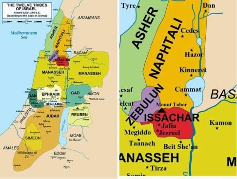 Zebulun and Naphtali map