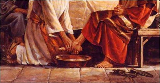 Image result for jesus washes peter's feet