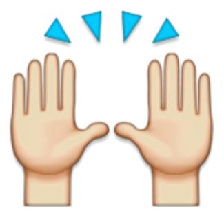 hands raised emoji