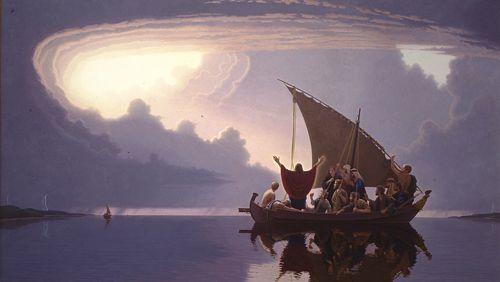 Jesus calms storm