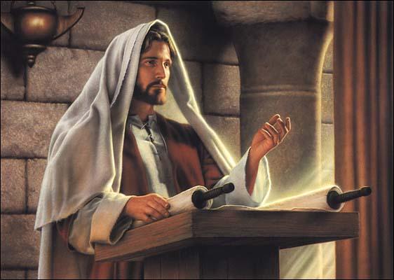 Jesus closed the scroll