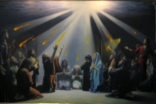 Tongues of fire at Pentecost