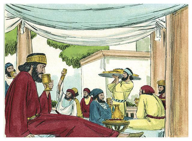 Ahsueras festival of wine