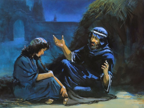 Ruth at the feet of Boaz