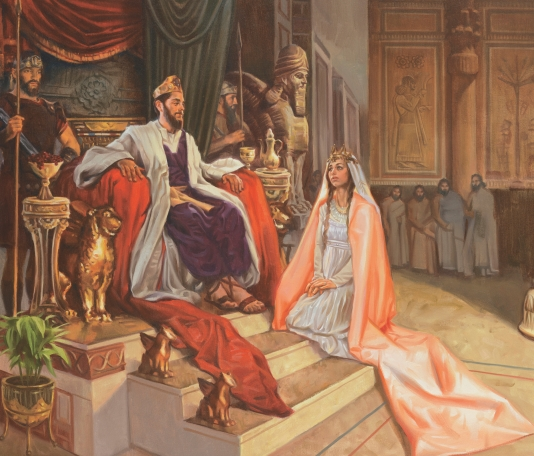 Queen Esthers at the kings feet